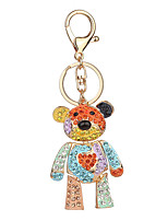 Key Chain Key Chain Pink Orange Metal