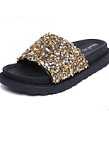 Women's Slippers & Flip-Flops Spring Summer Comfort PU Casual Flat Heel Sequin