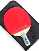 5 étoiles Ping Pang/Tennis de table Raquettes Ping Pang Bois Manche Court Boutons Intérieur Utilisation Exercice Sport de détente-#