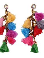 Boucles d'oreille goutte Bijoux Pendant Mode Bohême euroaméricains Bijoux Noir Gris Rouge Arc-en-ciel Bijoux PourMariage Soirée Occasion