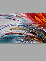 Hand-Painted Color Abstract Landscape Modern Oil Painting On Canvas With Stretched Frame Ready To Hang
