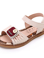 Girls' Sandals Summer Comfort Leatherette Outdoor Office & Career Party & Evening Dress Casual Flat Heel Applique Buckle