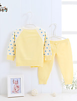 Casual/Daily Solid Shirt,Cotton Summer Spring Fall Long Sleeve Regular