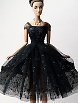 Princess Dresses For Barbie Doll Black Solid Dresses For Girl's Doll Toy