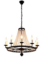 LightMyself 10 Lights Chandelier Modern/Contemporary Traditional/Classic Rustic/Lodge Tiffany Vintage Retro Lantern Drum Country Island Globe Bowl