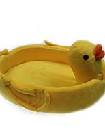 кошка кровать собаки кровать любимчика желтого стиля утка