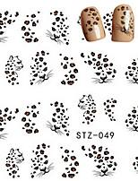 10pcs/set Hot Sale Sexy Nail Art Water Transfer Decals Sexy Leopard Design Beautiful Nail Art Sticker DIY Beauty Decals Romantic Decals STZ-049