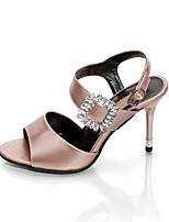 Women's Heels Summer Club Shoes Leatherette Party & Evening Casual Chunky Heel Metallic toe Walking