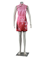 Inspired by Naruto Sakura Haruno Anime Cosplay Costumes Cosplay Suits Dresses Solid Pink Cheongsam For