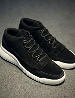 Men's Sneakers Fall Winter Comfort Suede Casual Flat Heel Black Gray