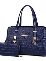 Women Bag Sets PU All Seasons Formal Casual Event/Party Wedding Office & Career Doctor Zipper Ruby Black Blue
