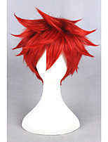 perruque courte Gekkan shoujo Nozaki Mikoshiba perruque cosplay perruque mikoto costume cosplay anime 14inch synthétique rouge cheveux