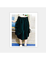 Girls' Casual/Daily Solid Skirt-Polyester Spring