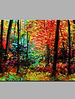Pintados à mão Abstrato Paisagem Horizontal,Moderno 1 Painel Tela Pintura a Óleo For Decoração para casa