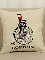 1 pcs Linen Pillow Cover Pillow Case,Geometric Nautical Still Life Graphic Prints Euro Casual Office/Business Traditional/Classic Outdoor
