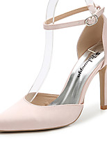 Women's Sandals Summer Fall Club Shoes D'Orsay & Two-Piece Silk Wedding Outdoor Office & Career Party & Evening Dress Stiletto Heel