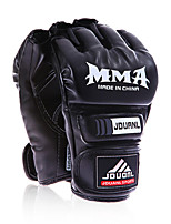 Boxing Gloves for Boxing Fingerless Gloves Protective PU White Black Red