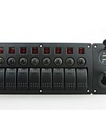 Iztoss rot führte dc12 / 24v 8 gang on-off Wippschalter gekrümmte Panel Power Ladegerät und 3.1a USB-Steckdosen und Leistungsschalter mit