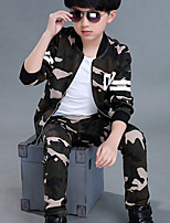Boys' Going out Striped Sets,Cotton Summer Winter Clothing Set