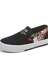 Mädchen-Sneaker-Outddor Lässig-Kunstleder-Flacher Absatz-Komfort-Weiß Schwarz