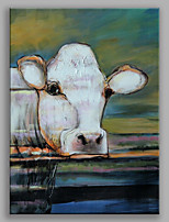 Hand-Painted Animal Dutch Cow Modern One Panel Canvas Oil Painting For Home Decoration
