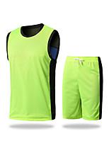 Homme Sans manche Exercice & Fitness Courses Badminton Course/Running Survêtement Cuissards Respirable Séchage rapideArgent Rouge Vert