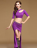Shall We Belly Dance Outfits Women Training Modal Sexy Split Front 2 Pieces Dance Costumes