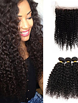 Natural Color Hair Weaves Brazilian Texture Kinky Curly 12 Months 4 Pieces hair weaves