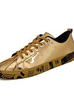 Золотой Черный Серебряный-Для мужчин-Для прогулок Повседневный Для занятий спортом-Дерматин-На плоской подошве-Удобная обувь-Кеды