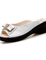 Women's Slippers & Flip-Flops Summer Slingback Comfort PU Outdoor Dress Casual Wedge Heel Bowknot