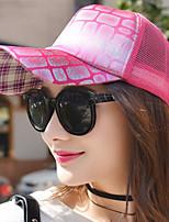 Women 's Square Sequins Mesh Hat Geometry Printing College Wind Baseball Cap