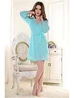Uniformes & Tenues Chinoises Vêtement de nuit Femme,Rétro Couleur Pleine-Mince Coton Non Tissé Rigide Aux femmes