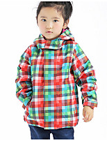 Girl's Casual/Daily Solid Check Suit & Blazer,Polyester Spring Fall Long Sleeve