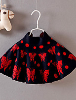 Girls' Casual/Daily Solid Floral Animal Print Skirt-Cotton Summer Fall