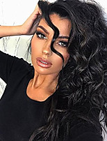 100%  Human Virgin Hair Natural Black Color Full Lace Wig Natural Body Wave Hair with Baby Hair