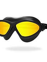 Swimming Goggles Anti-Fog Anti-Wear Waterproof Anti-UV Scratch-resistant Shatter-proof Anti-slip Strap Plating Silica Gel PCYellow White