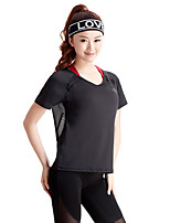 Women's Short Sleeve Running Tops Breathable Summer Sports Wear Running Slim Sexy Solid