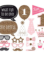 20pcs/Set 1st Birthday Party Decorations Photo Booth Props Photobooth
