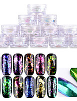 1box Manicure Brocade Chameleon Powder Transparent Specular Color Fireworks Stars Glitter Powder Plating Mirror