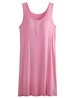 Women's Gartered Lingerie Nightwear Solid-Thin Modal Women's