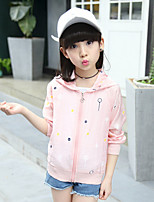 Girls' Casual/Daily Solid Print Suit & Blazer,Cotton Rayon Summer Spring Long Sleeve