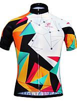 JESOCYCLING Cyklodres Dámské Krátké rukávy Jezdit na koleProdyšné Rychleschnoucí Odolný vůči UV záření Lehké materiály Zadní kapsa Ter