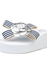 Белый Черный-Для женщин-Для прогулок-Ткань-Микропоры-Удобная обувь-Тапочки и Шлепанцы