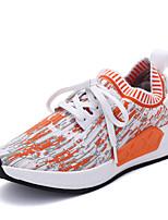Da donna-Sneakers-Tempo libero Casual Sportivo-Comoda Suole leggere-Piatto-Tulle-Arancione Grigio Nero/Giallo