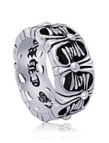Ring Euramerican Titanium Steel Geometric Silver Jewelry For Daily 1pc