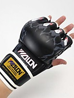 Boxing Gloves Boxing Training Gloves for Boxing Fingerless Gloves Breathable Protective Anatomic Design PU Leather Sponge
