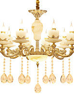 European Style Atmosphere Zinc Alloy Crystal Living Room Bedroom Home Chandelier P