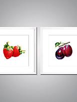 Отпечатки на холсте в рамах Натюрморт Продукты питания Реализм Modern,2 панели Холст Квадратная Печать Искусство Декор стены For