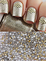 1000pcs Golden Stud Rhinestones Acrylic UV Gel Nail Art Decorations For DIY 1 bag 1.5mm