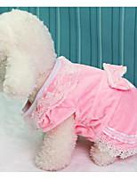 Собаки Платья Одежда для собак Лето Принцесса Милые Мода На каждый день Синий Розовый